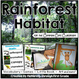Rain Forest Habitat for the Common Core Classroom