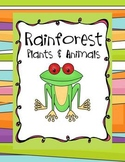 Rainforest Learning Adventure - Animal & Habitat Investigations