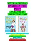 Ramona the Pest Literature Unit/Novel Study