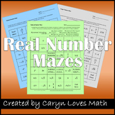Rational Number Maze-Integers-Naturals-3 Worksheets-Review