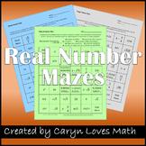 Rational Number Maze-Integers-Naturals-3 Worksheets-Review