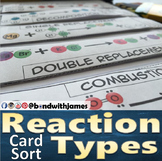 Reaction Types Graphic Organizer and Card Sort for Chemist