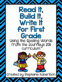 Read It, Build It, Write It for First Grade Using Journeys