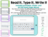 Read It, Type It, Write It - A Dolch Sight Words Activity