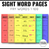 Read It Write It Find It Sight Words