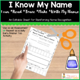 Read, Trace, Make, and Write Name Activity Template
