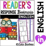 Reader's Response Bookmarks
