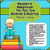 Reader's Response Sentence Starters & Tic Tac Toe Boards -