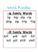 Reading Buddies: Sight Words, Word Families, and Stories