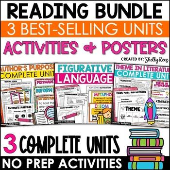 Reading Bundle - Theme, Figurative Language, Author's Purpose Units