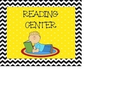 Reading Center Signs