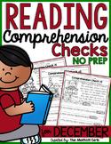 Reading Comprehension Checks for December (NO PREP)