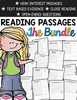 Reading Comprehension Passages {BUNDLED & Common Core}