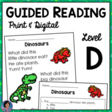 Reading Comprehension Passages: Guided Reading Level D