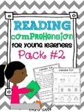 Reading Comprehension for Young Learners PACK #2 {pack of