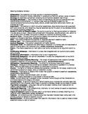 Reading Glossary Handout