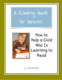 Reading Guide for Parents of Beginning Readers