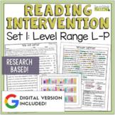 Reading Intervention Program for Big Kids: Set One