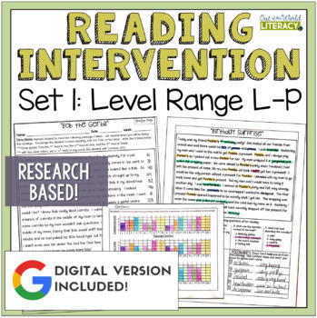 Reading Intervention Program for Big Kids: Set One Levels L-P