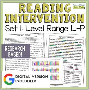 Reading Intervention Program for Big Kids: Set One Levels L-P