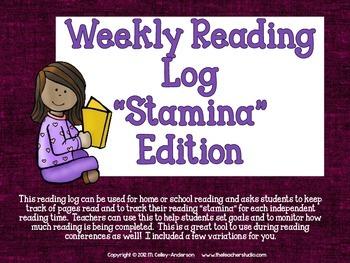 Reading Log Stamina Edition
