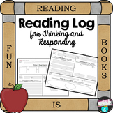 Reading Log for Thinking and Responding