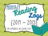Reading Logs {2014-2015}