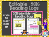 Reading Logs {2015+2016} Monthly Reading Calendars 2 yr Bu