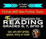 Reading Nonfiction & Fiction Graphic Organizers Grades 6, 7, 8