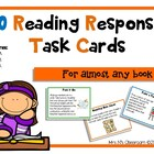 10 FREE Reading Response Activity Task Cards! by Mrs N.