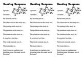 Reading Response Book Mark