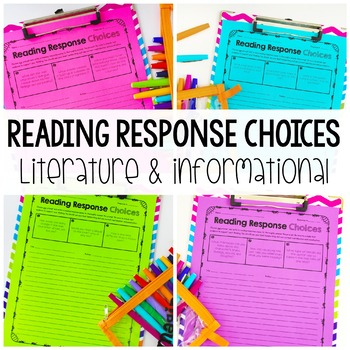 Reading Response Choices
