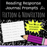 Reading Response Journal Prompts for Fiction and Non-Ficti