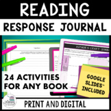 Reading Response Journal: To Use With Any Book (Grades 6, 7, 8)
