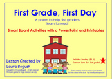"""Beginning of the Year Reading Smart Board Lesson """"First Gr"""