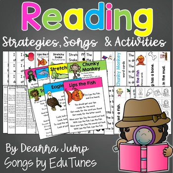 Reading Strategies Activities and Songs  {Beanie Babies Guided Reading}