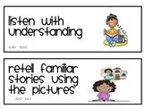 Reading Strategies Cards for Kindergarten