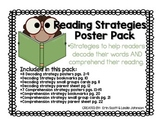 Reading Strategies Poster Pack (decoding and comprehension)