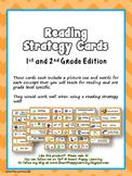 Reading Strategy Cards - 1&2 Grade Chevron Chic