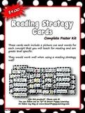 Reading Strategy Cards - Kindergarten  RED Polka Dot Theme
