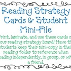 Reading Strategy Display Cards & Mini Student Copy