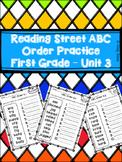 Reading Street ABC Order Practice - 1st Grade Unit 3 Spell