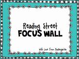 Reading Street Kindergarten Focus Wall