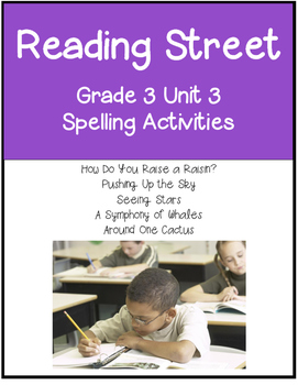 Reading Street  Spelling Unit 3 Grade 3