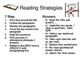 Reading Testing Strategies Posters