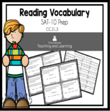 Reading Vocabulary SAT-10 Task Cards
