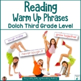 Dolch Warm Up Phrases Third Grade Levels