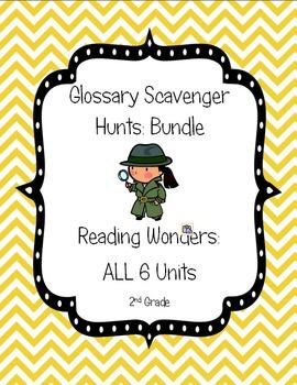 Reading Wonders Common Core Glossary Hunts ALL 6 UNITS Grade 2