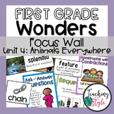 Reading Wonders First Grade Unit 4 Focus Wall