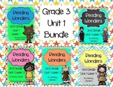 Reading Wonders, GRADE 3 CENTERS (Unit 1 BUNDLE!)